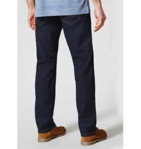 Stretch straight-leg jeans-Rinsewash