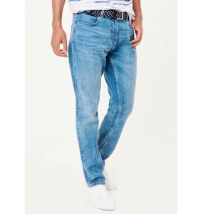 belted jeans-Lightwash