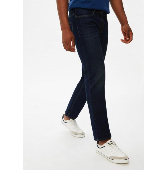 Stretch straight-leg jeans-Darkwash