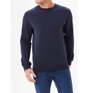 crew neck sweatshirt-Navy