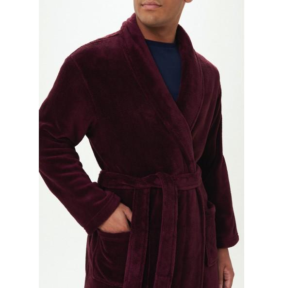 velvet dress-Burgundy