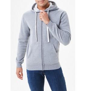 Zip-up hoodie-Grey
