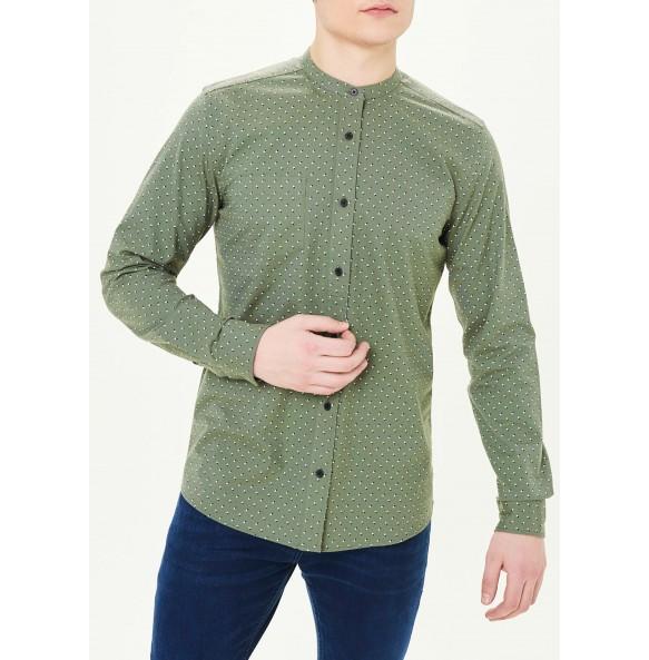 Long Sleeve Slim Fit Oxford Collar Shirt *5