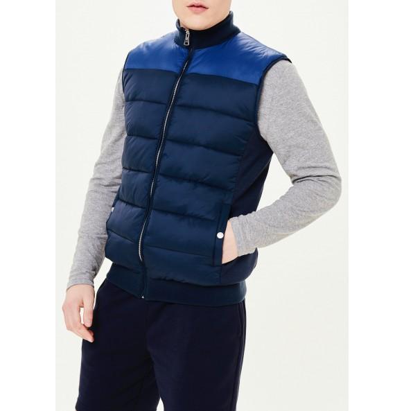 Navy Padded Vest - Shoulder Blue