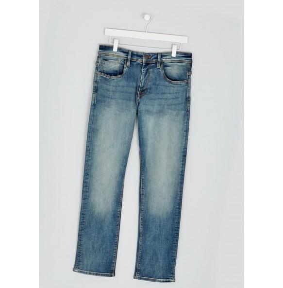 Stretch straight-leg jeans-Denim *10