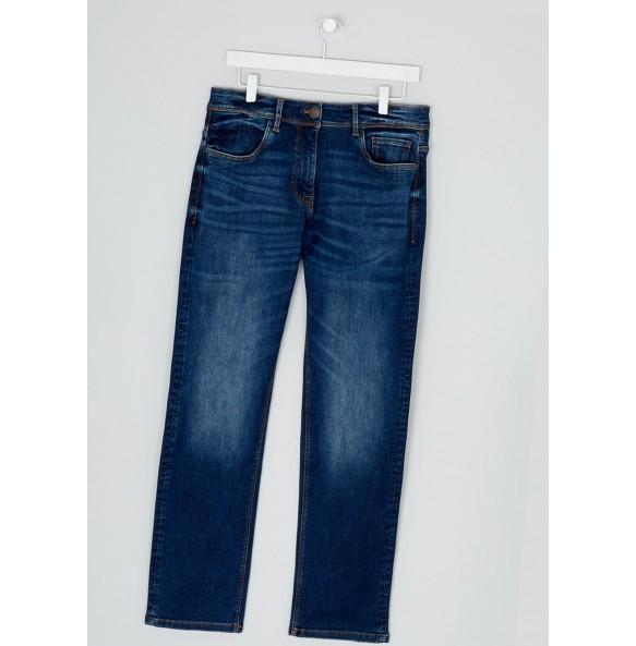 Stretch straight-leg jeans *5