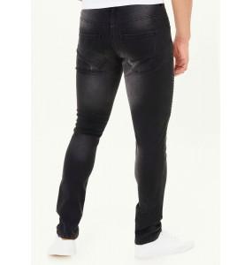Rip-off biker jeans