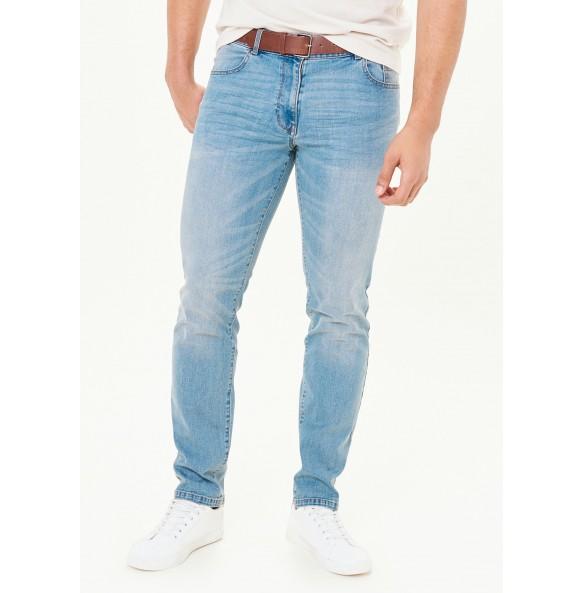 Skinny Belt Jeans