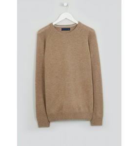 Lamb's Fleece Crew Neck Sweater-Oatmeal
