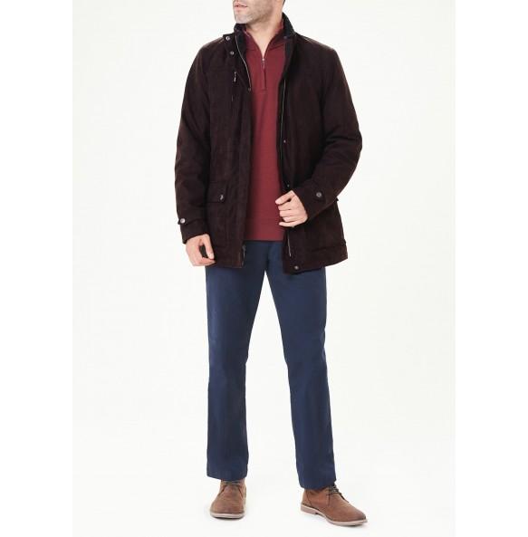 Brown faux suede jacket