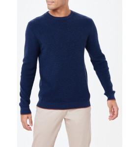 Cotton crew neck knit shirt