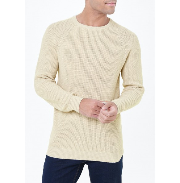 Ribbed Crew Neck Knit *10