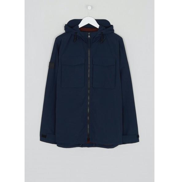 Rainproof hooded multi-purpose jacket in navy.