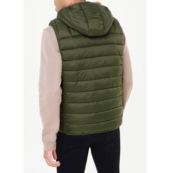 Lightweight hooded sweatshirt in khaki