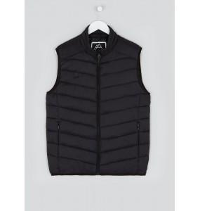 Lightweight black flared collar vest