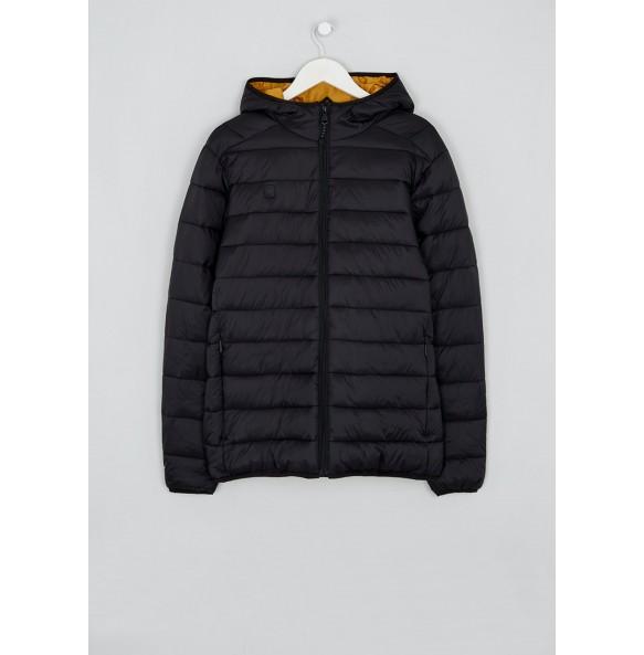 Black Lightweight Hooded Fleece Jacket