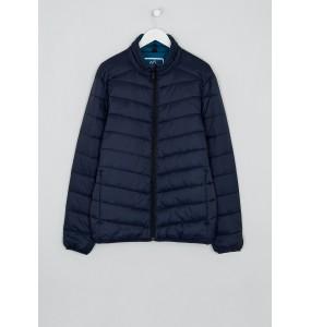 Lightweight funnel neck fleece jacket in navy blue
