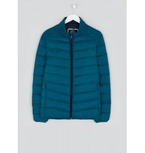 Fleece jacket with light funnel neck
