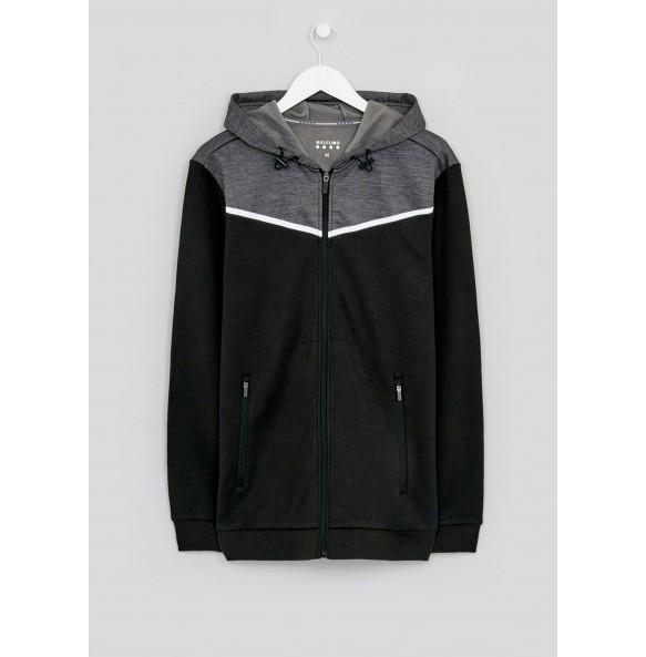Two-tone black hoodie