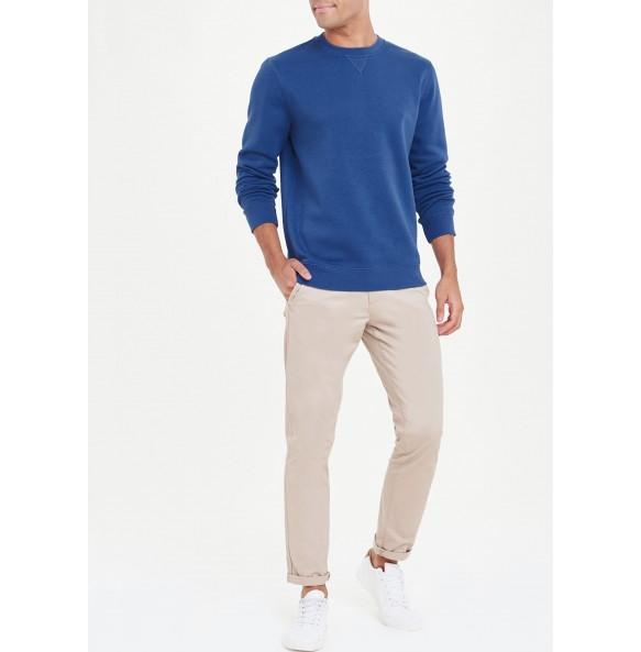 crew neck sweatshirt-Blue