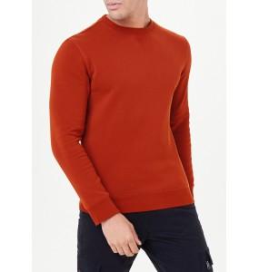crew neck sweatshirt-Orange