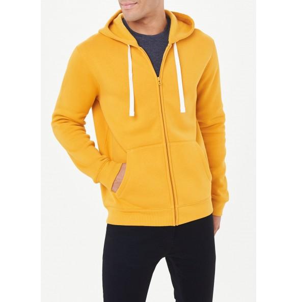 Zip-up hoodie-Yellow