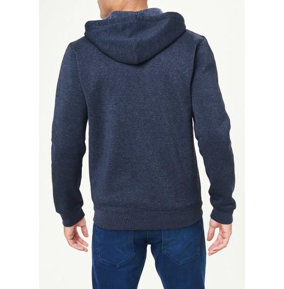 Zip-up hoodie-Blue