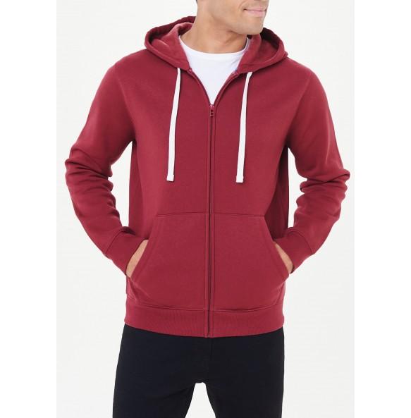 Zip-up hoodie-Red