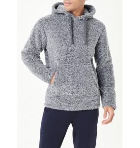 Grey wool casual hoodie