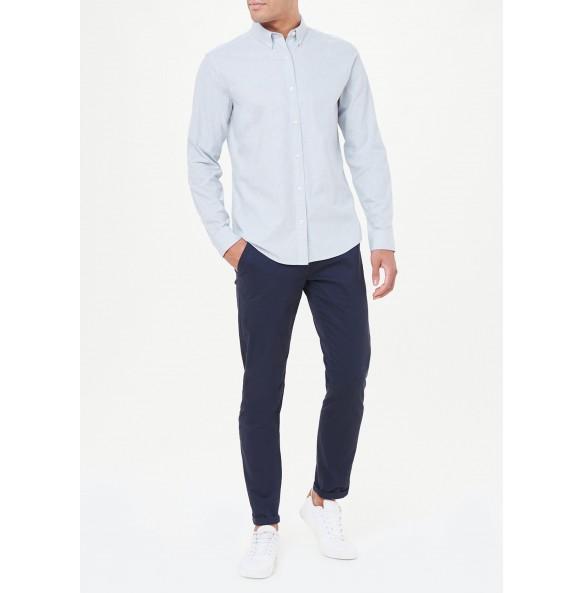 light blue stretch oxford shirt