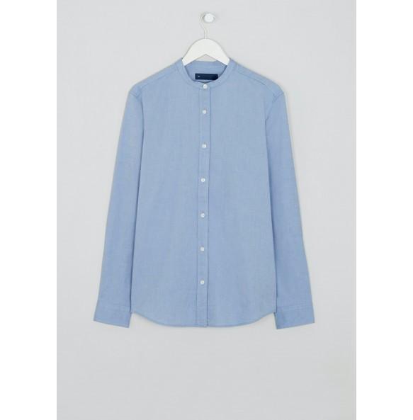 Collar Oxford Shirt-blue