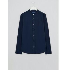 Collar Oxford Shirt-dark blue