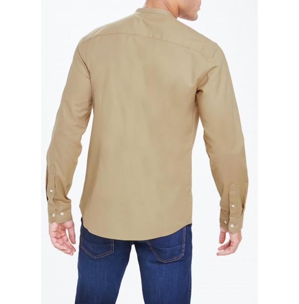 Collar Oxford Shirt-khaki