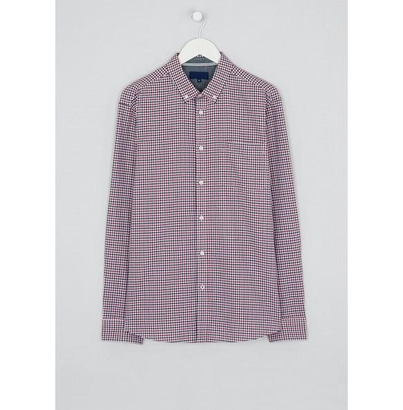 plaid oxford shirt-pink