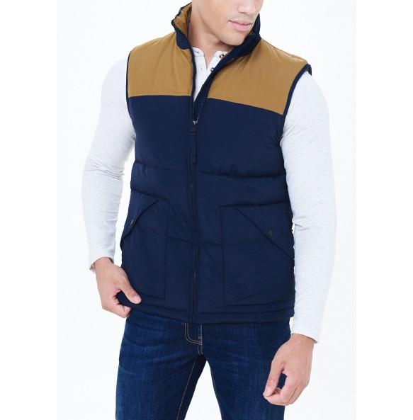 Navy pile vest