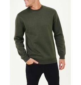 herringbone crew neck sweatshirt