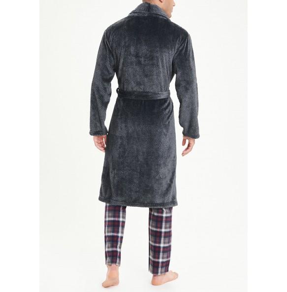 Herringbone suede dress